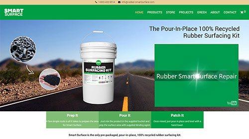 Webáruház készítés és weblap készítés a Rubber Smart-Surface LLC részére