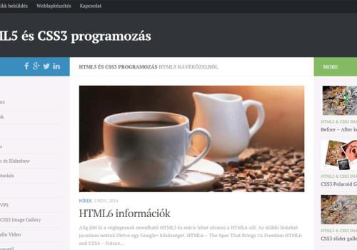HTML5 és CSS3 Programozás Blog