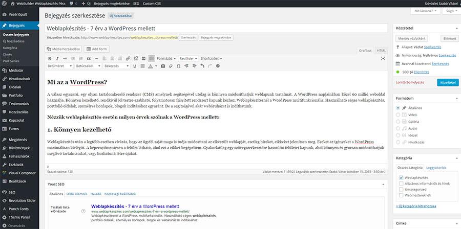 weblapkészítés - 7 érv a wordpress mellett