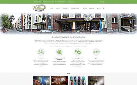 Weblapkészítés, Webáruház Készítése - Bringabarát Kerékpárbolt és Szerviz
