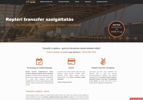 Weblapkészítés – Transzfer A Reptérre
