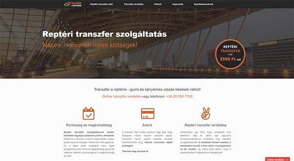 Weblapkészítés - Transzfer A Reptérre