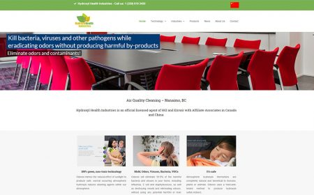 Weblapkészítés - Hydroxyl Health Industries Canada Részére
