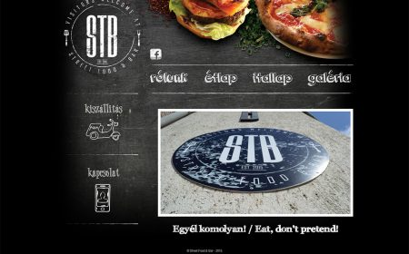 Weblapkészítés – Street Food & Bar