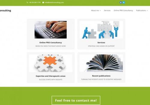 Weblapkészítés A Kulich Consulting Részére