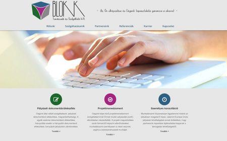 Honlapkészítés A Blokk Tanácsadó Kft. Részére