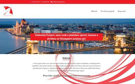 Weblap Készítés Az Umbrella Project Részére