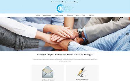 Bujdosó Közbeszerzés - Weblapkészítés