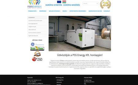 Weblapkészítés A PSS Energy Kft. Részére
