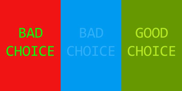 A jó tipográfia kontraszt weboldal készítés esetén
