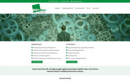 Weblap Készítés A NewWest Biztosítási Alkusz Kft Részére