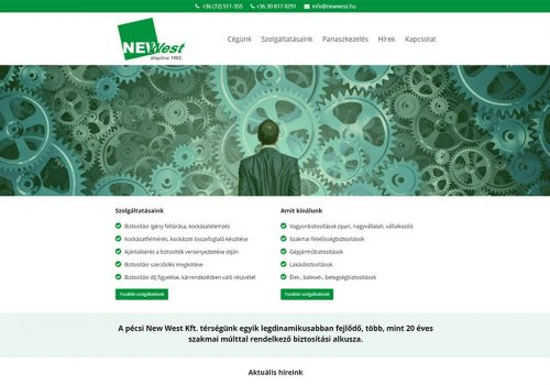 Weblap Készítés A NewWest Kft. Részére