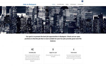 Weblapkészítés A Jobs In Budapest Részére