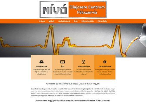 Weblap Készítés A Nívó Olajcsere Centrum Részére