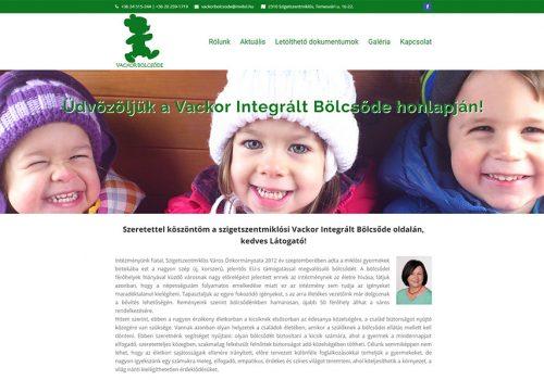Weboldal Készítés A Vackor Integrált Bölcsőde Részére