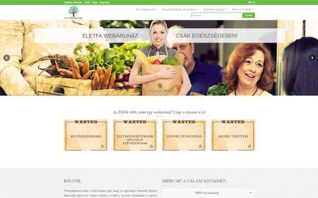 Weboldal Készítés Az Életfa Webáruház Részére