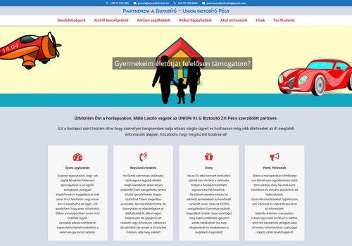 Weboldal Készítés Az UNION Biztosító Pécsi Partnere Részére