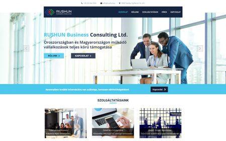 Weboldal Készítés A RUSHUN Business Consulting Részére