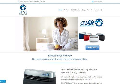 Weboldal Készítés és Termék Oldal A Floridai OHAir Részére