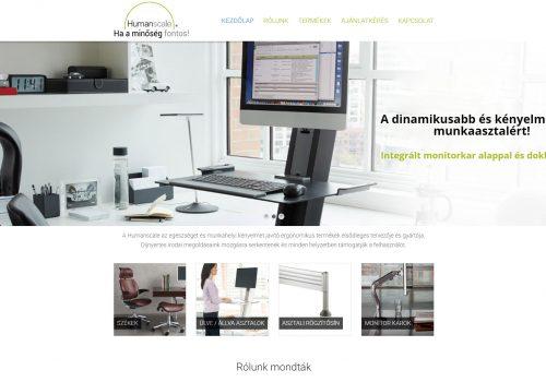 Honlapkészítés A Humanscale Magyarországi Forgalmazója Részére