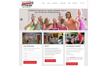 Weblapkészítés A Kanadai Kickstart Fitness Részére
