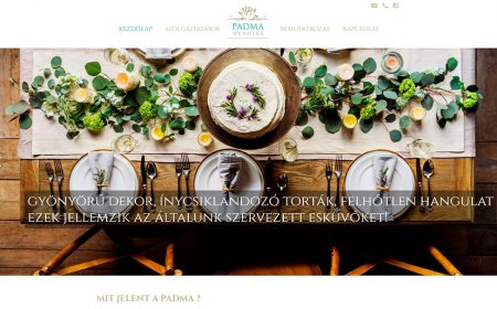 Weblapkészítés A Padma Wedding Részére