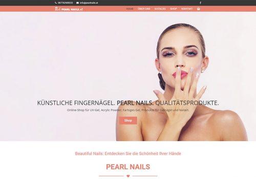Weblap Készítés és Webáruház A PearlNails.at Részére