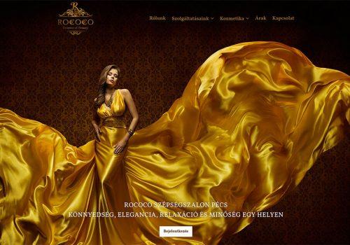 Weblap Készítés A Rococo Szépségszalon Részére