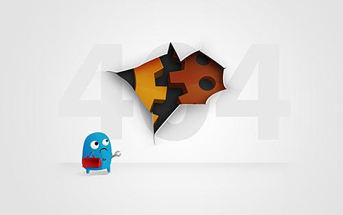 404-hiba az oldal nem található