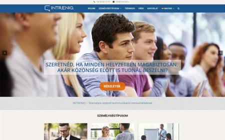 Weboldal Készítés Az Intreniq Részére