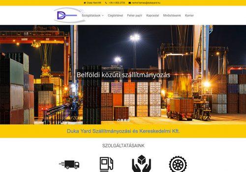 Weboldal Készítés A Duka Yard Kft. Részére