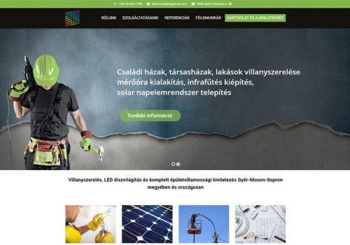 Weboldal Készítés A Led Home Lighting Kft. Részére