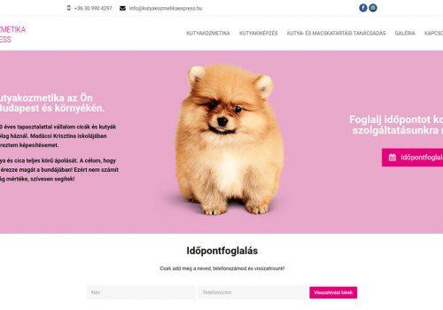 Weblap Készítés A Kutyakozmetika Részére