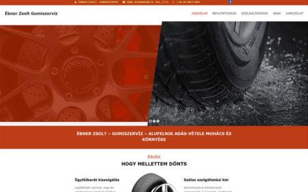 Weboldal Készítés Az Ébner Gumiszerviz Részére