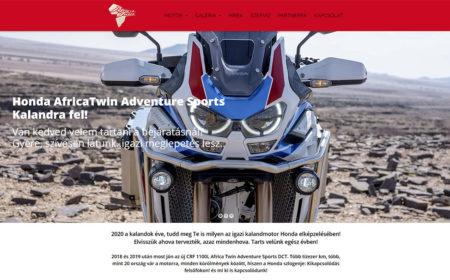Weblapkészítés Az Africa Twin Részére