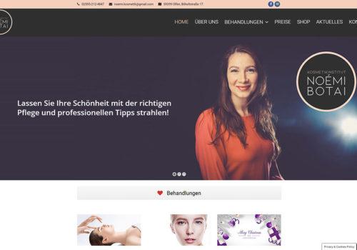 Weblapkészítés Az Olfen Kosmetikinstitut Részére