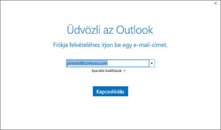 Fiók hozzáadása MS Outlook