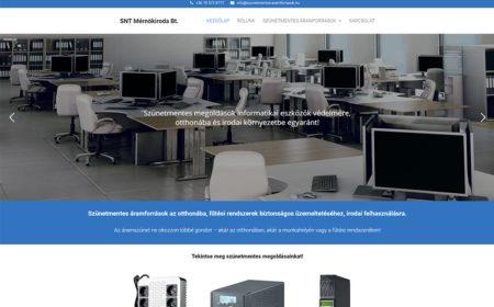 Weblapkészítés Az SNT Mérnökiroda Részére
