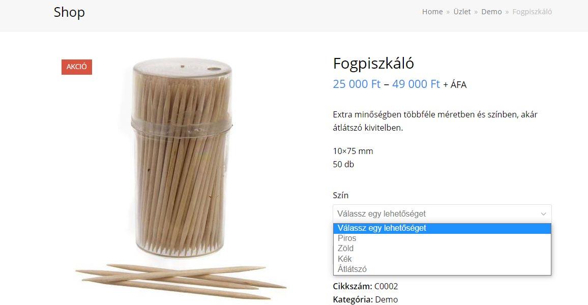 WooCommerce webáruház segédlet és kezelési útmutató 13