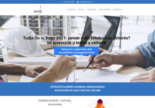 Weblapkészítés A NOLTECH Méréstechnika Kft. Részére