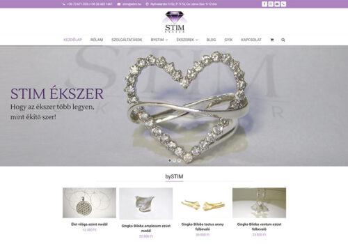 Weblap és Webáruház Készítés A STIM ékszer Részére