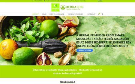 Webáruház Készítés A Herbashopline Részére