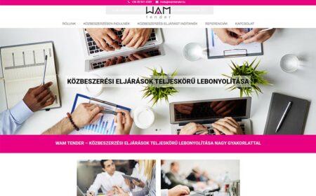 Weblapkészítés A WAMTender Részére