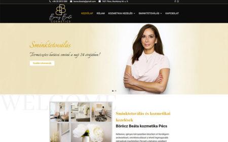 Weblap Készítés Böröcz Beáta Cosmetics Részére